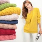 € 5.65 37% de DESCUENTO|Suéteres de patrón de lamei Twist mujer Otoño Invierno moda jersey básico Mujer jerseys manga larga Mujer Casual tejido-in Pulóveres from Ropa de mujer on Aliexpress.com | Alibaba Group