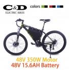Бесплатная доставка таможенную пошлину бесплатно электрический горный Ebike 48 В 350 Вт Мотор 48 В 15.6AH литий ионный Батарея Электрический велосипед LCD5 Дисплей купить на AliExpress