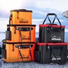 Loogdeel Portable Zipper Fishing Bucket Outdoor Folding EVA Fishing Bag live fish bucket 5 Sizes Camping Hiking Fishing Bag