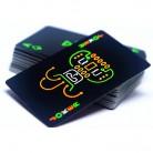 139.71 руб. 38% СКИДКА|Новые забавные флуоресцентные покерные карты крутой черный светящийся в темноте бар вечерние Вечеринка KTV ночной светящийся игральные карты коллекция специальный покер купить на AliExpress