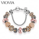 US $3.64 27% OFF|VIOVIA Silver Charm bracelet & bangles for Women wholesale fashion Jewelry Fit Original Bracelets Pulseira B15168-in Charm Bracelets from Jewelry & Accessories on Aliexpress.com | Alibaba Group