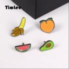 43.05руб. 39% СКИДКА|Timlee X029 Бесплатная доставка милые Фрукты Банан персик авокадо, арбуз брошь булавки 1,3 2,2 см, модные ювелирные изделия оптом-in Броши from Украшения и аксессуары on AliExpress