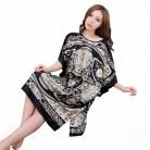 542.38 руб. 50% СКИДКА|Большой размер, летний женский ночной халат из искусственного шелка, черный женский банный халат, ночная рубашка, халат, одежда для сна, Mujer, пижама с цветочным принтом, Zh07C-in Халаты from Нижнее белье и пижамы on Aliexpress.com | Alibaba Group