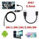 414.36 руб. 23% СКИДКА|5,5 мм эндоскоп камера HD USB эндоскоп с 6 светодиодный ами 3,5. 5/2/1/1/5 м мягкий кабель водостойкий осмотр бороскоп для Android PC купить на AliExpress