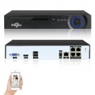 Hiseeu H.265 H.264 4CH 8CH 48V POE IP Camera NVR 4K Network Video Recorder P2P ONVIF 4K CCTV System