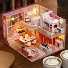 285.69 руб. 42% СКИДКА|Поделки Кукольный дом деревянный кукольные домики миниатюрная мебель dollhouse комплект игрушки для детей Рождественский подарок L026 купить на AliExpress