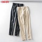 Tangada женские белые обтягивающие штаны из искусственной кожи стрейч на молнии женские осенние зимние узкие брюки 6A04