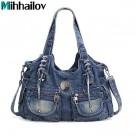 2145.2 руб. 45% СКИДКА|Новые дизайнерские брендовые элегантные модные женские заклепки для джинсов со стразами на плечо повседневные женские джинсовые сумочки женская сумка Mochila XS 124-in Сумки с ручками from Багаж и сумки on Aliexpress.com | Alibaba Group