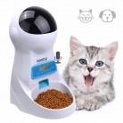 Pet U 3 Л. автокормушка для кошек с Записю голоса кормушка для кошек /ЖК дисплей Экран автоматической подачи домашних животных 4 раза в один день купить на AliExpress