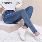 1001.95руб. 38% СКИДКА|JFUNCY, женские обтягивающие джинсы с высокой талией, Mujer, 2019, тонкие Стрейчевые джинсы размера плюс, зимние, весенние, теплые, вельветовые, узкие, джинсовые штаны для девушек-in Джинсы from Женская одежда on AliExpress