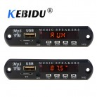 kebidu DC 5V 12V Micro USB FM AUX 3.5MM TF Radio MP3 Decoder Audio Board For Car Remote Music Speaker