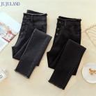977.9руб. 50% СКИДКА|JUJULAND Джинсы женские джинсовые штаны черного цвета женские джинсы Donna Стретч низ Feminino обтягивающие брюки для женщин брюки 8253-in Джинсы from Женская одежда on AliExpress