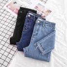 694.34руб. 42% СКИДКА|Новинка, обтягивающие джинсы карандаш, Женские джинсовые штаны, женские синие штаны, рваные Стрейчевые женские джинсы длиной до щиколотки, узкие джинсы, брюки размера плюс-in Джинсы from Женская одежда on AliExpress