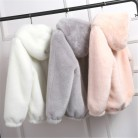 1024.73руб. 55% СКИДКА|Lovepeapomelo, новинка 2020, пальто из искусственного меха с капюшоном, высокая талия, Модная приталенная черная, красная, розовая куртка из искусственного меха, искусственный мех кролика, D390-in Искусственный мех from Женская одежда on AliExpress