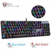 2979.04 руб. |Оригинальный Motospeed CK104 RGB игровая механическая клавиатура Русский Английский красный синий переключатель с подсветкой Клавиатура анти ореолы для геймера купить на AliExpress