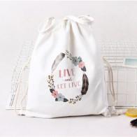 511.81 руб. 25% СКИДКА|Белая сумка на шнурке для подростков модная одежда для девочек Для женщин милые животные печати рюкзак для путешествий с мягкой спинкой и тесьмой мешочек для подарков Сумки купить на AliExpress