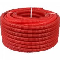 Купить Труба гофрированная ПНД, цвет красный, наружным диаметром 32 мм для труб диаметром 25 мм STOUT в Ульяновске - Гофрированные трубы