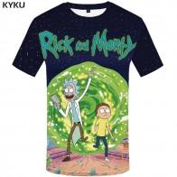 389.08 руб. 46% СКИДКА|KYKU бренд Рик и Морти Футболка мужская футболка