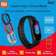 US $34.88 20% OFF|In Stock  Xiaomi Hey Plus Smartband 0.95 Inch AMOLED Color Screen Builtin Multifunction NFC Heart Rate Monitor Hey+ Band-in Smart Wristbands from Consumer Electronics on Aliexpress.com | Alibaba Group