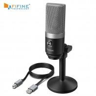3135.73 руб. 20% СКИДКА|FIFINE USB микрофон для Mac ноутбуков и компьютеров для записи потоковой передачи Twitch Voice overcasing для Youtube Skype K670-in Микрофоны from Бытовая электроника on Aliexpress.com | Alibaba Group
