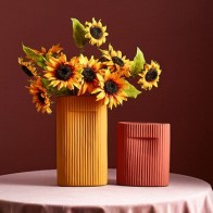 Полимерная ваза в скандинавском стиле, современный Декор для дома, аксессуары для гостиной, имитация букета, ваза, керамическая Столешница, ... - Шикарные вазы