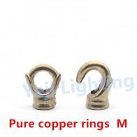 Anillos de apertura cerrada de cobre puro gancho de latón M10 para lámpara de techo placa de techo Rosa retro edison lámpara, accesorios de iluminación