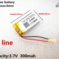 315.19 руб. 31% СКИДКА|3 линии хорошего качества 3,7 V, 300 mAH, 402035 полимерный литий ионный/литий ионная аккумуляторная батарея для игрушка, портативное зарядное устройство, gps, mp3, mp4-in Батареи для MP3/MP4 плееров from Бытовая электроника on Aliexpress.com | Alibaba Group