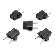 5Pcs Travel Plug adapter US To EU Countries AC Power Plug Adapter For Travel