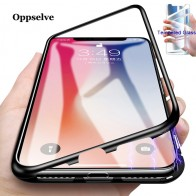 Luxury Magnetic Adsorption Phone Case For iPhone 11 Pro X Xs Max Xr 8 7 6 s Plus Metal Magnet Tempered Glass Flip Cover Capinhas