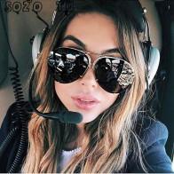 343.18 руб. 42% СКИДКА|SOZO TU 2018 крупные Солнцезащитные очки женские без оправы большие солнцезащитные очки женские большие солнцезащитные очки авиаторы женские негабаритные очки-in Женские солнцезащитные очки from Одежда аксессуары on Aliexpress.com | Alibaba Group