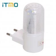 70.63 руб. 27% СКИДКА|Аварийный настенный светильник светодиодное освещение для дома ночник ЕС вилка прикроватный настенный светильник энергоэффективный 4 светодиодный s 3 W-in Ночники from Лампы и освещение on Aliexpress.com | Alibaba Group