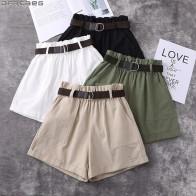 665.72 руб. 28% СКИДКА|Модные Harajuku больших размеров шорты для Для женщин летние эластичные Высокая Талия Короткие Femme манжеты широкие брюки с поясом хлопка женские шорты-in Шорты from Женская одежда on Aliexpress.com | Alibaba Group