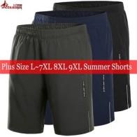 Большие размеры 7XL 8XL 9XL, Мужские дышащие повседневные пляжные шорты с эластичной резинкой на талии, верхняя одежда, спортивные шорты для бег...