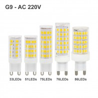 3W 4W 5W 8W 10W G9 LED light Bulb AC 220V 2835SMD super bright  Corn Lamp home lighting spotlight Chandelier Bulbs 3000K 6000K