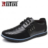 1677.19 руб. 48% СКИДКА|REETENE/Большие размеры 37 48, повседневная кожаная обувь для мужчин высокого качества, кожаная мужская повседневная обувь, осенняя кожаная обувь для мужчин, обувь на плоской подошве купить на AliExpress