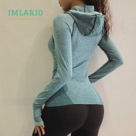 US $20.16 20% OFF|Imlario Energy Seamless Long Sleeve Top Hoodie Sport Cowl Neck Jacket Windproof Gym Shirt Yoga Fitness Pullovers Thumb Hole-in Running T-Shirts from Sports & Entertainment on Aliexpress.com | Alibaba Group