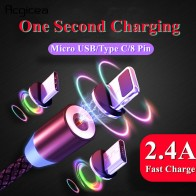 US $1.01 49% OFF|1M LED Magnetic USB Cable for iPhone Xs Max 8 7 6 & USB Type C Cable & Micro USB Cable for Samsung Xiaomi Huawei USB C Microusb-in Mobile Phone Cables from Cellphones & Telecommunications on Aliexpress.com | Alibaba Group