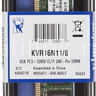 Модуль памяти KINGSTON KVR16N11/8 DDR3 -  8Гб