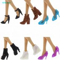 69.9 руб. 20% СКИДКА|Модные ботинки высокого качества, разноцветные, разные стили, обувь на высоком каблуке, сандалии, милая Одежда для кукол Барби, аксессуары, подарки купить на AliExpress