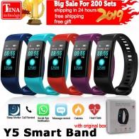 712.53 руб. 20% СКИДКА|Y5 Смарт часы цветной экран браслет пульсометр фитнес трекер умная электроника браслет VS Xiaomi Miband 2 купить на AliExpress