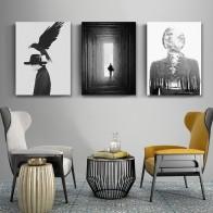 230.53 руб. 52% СКИДКА|Абстрактные скандинавские современные женские холст, рисунки, постер, черно белые настенные художественные картины для гостиной домашнего офиса декора-in Рисование и каллиграфия from Дом и животные on Aliexpress.com | Alibaba Group