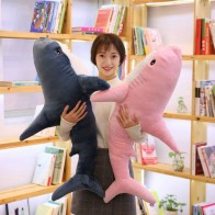 100cm Big Size Funny Soft Bite Pink Plush Shark Toy Pillow Appease Cushion Gift For Children-in Stuffed & Plush Animals from Toys & Hobbies on AliExpress