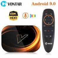 VONTAR X3 4 Гб 128 Гб 8K Amlogic S905X3 Smart tv BOX Android 9,0 Dual Wifi 1080P 4K Youtube ТВ приставка 4 Гб 64 ГБ 32 ГБ on AliExpress - AmLogic S905x3
