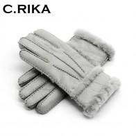 613.92 руб. 50% СКИДКА|100% чистая Овчина зимние перчатки женские настоящие овчины Кашемир мех теплые перчатки женские полный палец натуральная кожа Варежки перчатки купить на AliExpress
