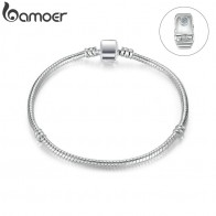 US $1.79 |BAMOER High Quality Wholesale Silver Color Basic Snake Chain Magnet Clasp for Charm Bracelet Beads & Jewelry Making PA9010-in Strand Bracelets from Jewelry & Accessories on Aliexpress.com | Alibaba Group