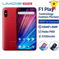12740.91 руб. 22% СКИДКА|UMIDIGI F1 Play Android 9,0 48MP + 8MP + 16MP камеры 5150 mAh 6 GB ram 64 GB rom 6,3