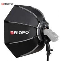 Портативный софтбокс для улицы Triopo 90 см с восьмиугольным зонтом Speedlite для Godox V860II TT600 Yongnuo YN560IV YN568EX Flash KS90 - Для сочных фотографий