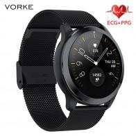 Vorke VQ7 ECG + PPG Смарт-часы IP68 Водонепроницаемые мужские Смарт-часы монитор сердечного ритма фитнес-трекер мульти-спортивные Смарт-часы PK N58 - Умные часики