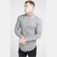 US $8.59 36% OFF|New Muscle Men cotton gyms long sleeved t shirt Fitness workout Siksilk Brand fashion clothing male Casual Sports tee tops on AliExpress