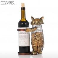 1856.64 руб. |Tooarts Cat красное вино стойки пробки контейнер держатель бутылки Кухня бар Дисплей вина металла подарок корабля рукоделие животных вина стоят  держатель для вина купить на AliExpress